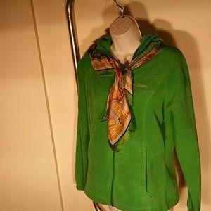 Columbia Green Fleece Jacket. S